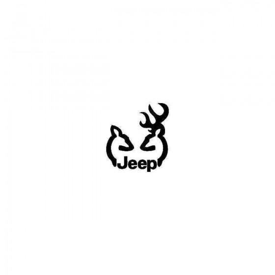Jeep Deer Vinyl Decal Sticker