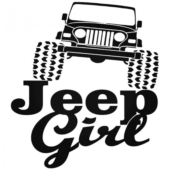 Jeep Girl 14 Decal