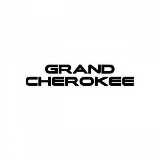 Jeep Grand Cherokee Decal...