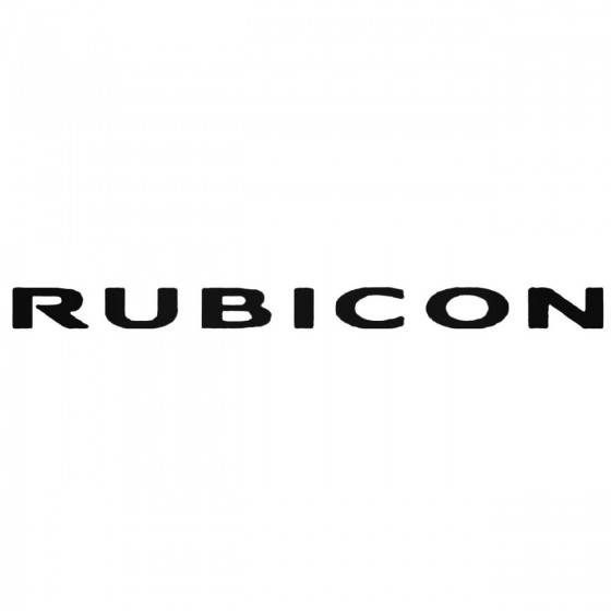 Jeep Rubicon Decal Sticker