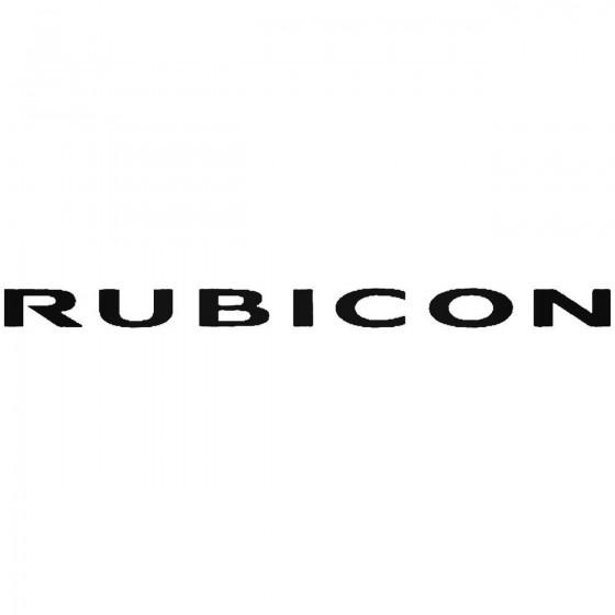 Jeep Rubicon Logo Vinyl...