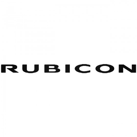 Jeep Rubicon Vinyl Decal...