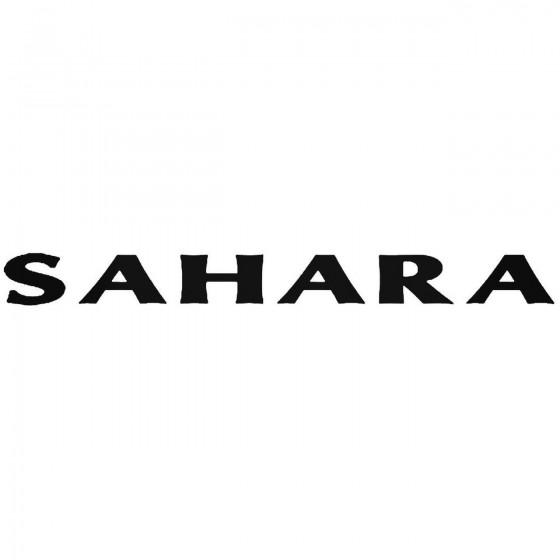 Jeep Sahara 1 Vinyl Decal...