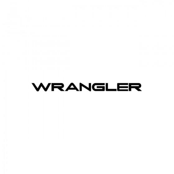 Jeep Wrangler Vinyl Decal...
