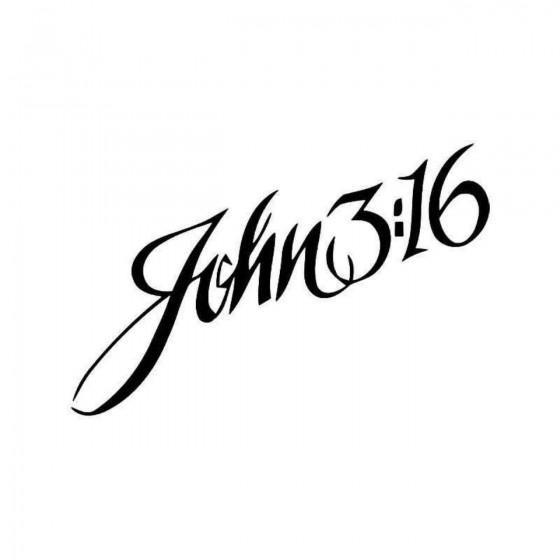John 316 Bible Vinyl Decal...
