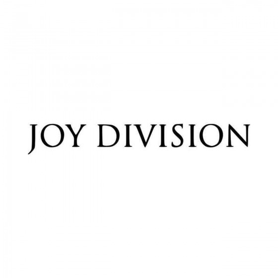 Joy Division Vinyl Decal...