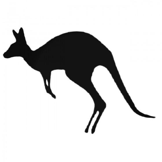 Kangaroo Jumping Decal Sticker