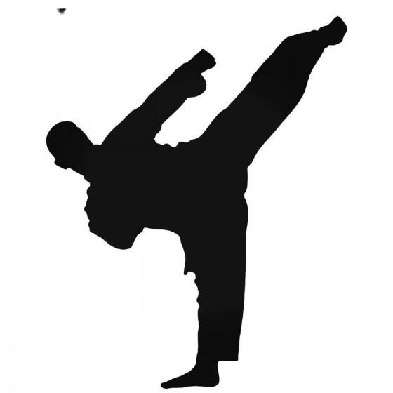 Karateka Kick 3 Decal Sticker
