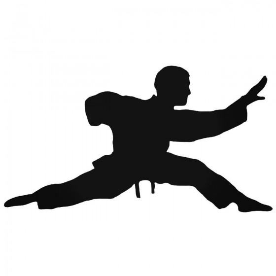 Karateka Stand 3 Decal Sticker
