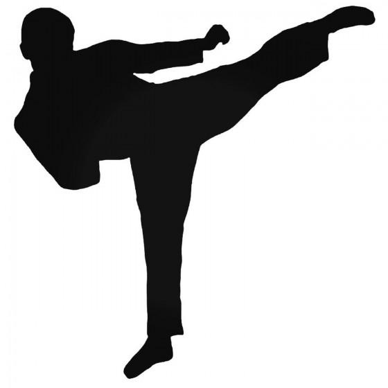 Karate Kick Decal Sticker