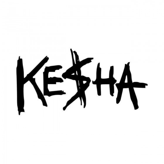 Kesha Logo Vinyl Decal Sticker