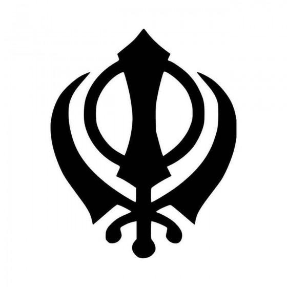 Khanda Sikhism Symbol Vinyl...