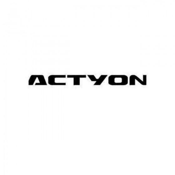 Kia Actyon Decal Sticker