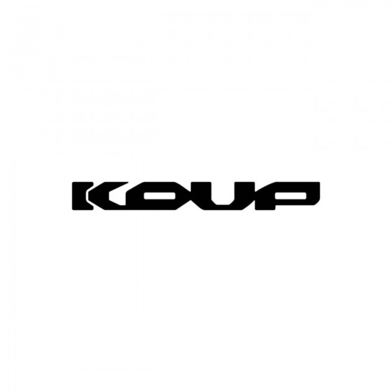 Kia Koup Vinyl Decal Sticker