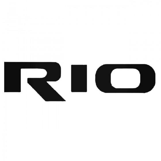 Kia Rio 2 Decal Sticker 1