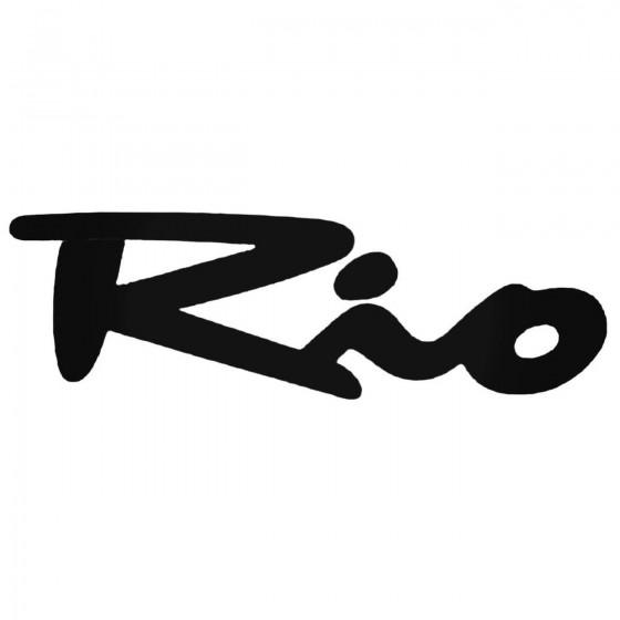 Kia Rio Aftermarket Decal...