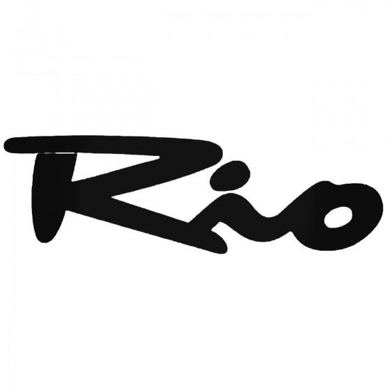 Kia Rio Decal Sticker