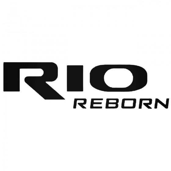 Kia Rio Reborn Logo Decal...