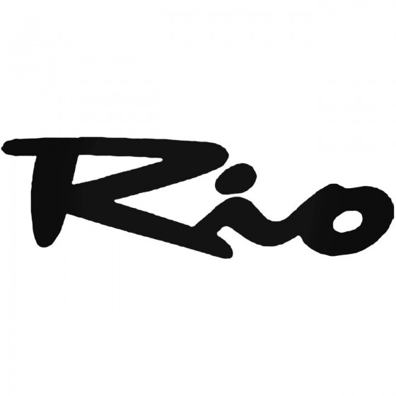 Kia Rio Vinyl Decal