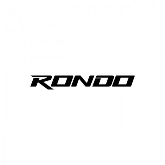 Kia Rondo Vinyl Decal Sticker