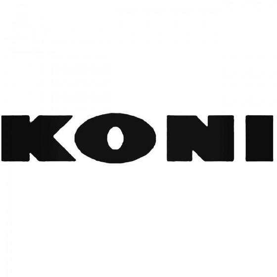 Koni Vinyl Decal