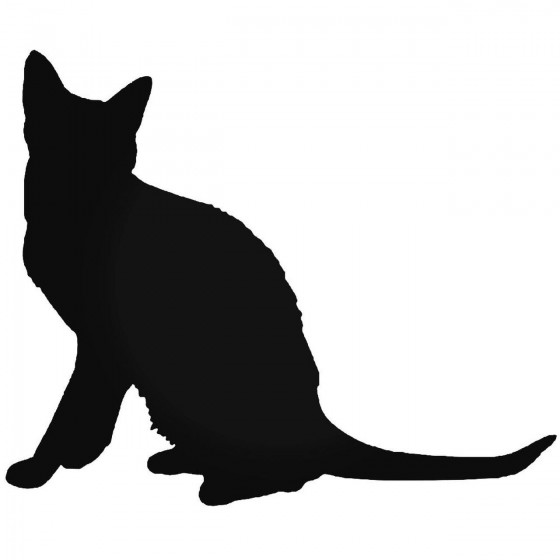 Korat Cat Vinyl Decal Sticker
