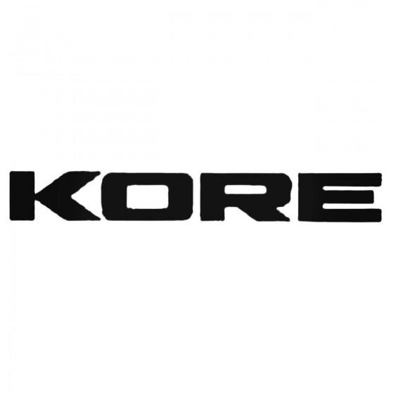 Kore Text Decal Sticker