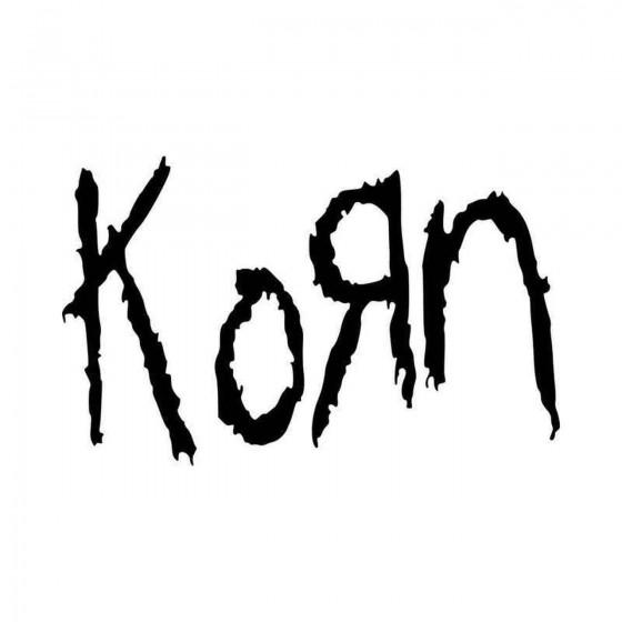 Korn Logo Vinyl Decal Sticker