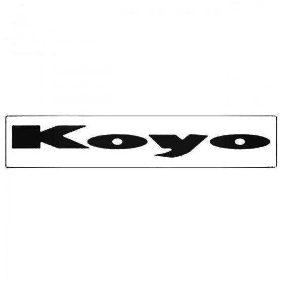 Koyo Windshield Decal Sticker