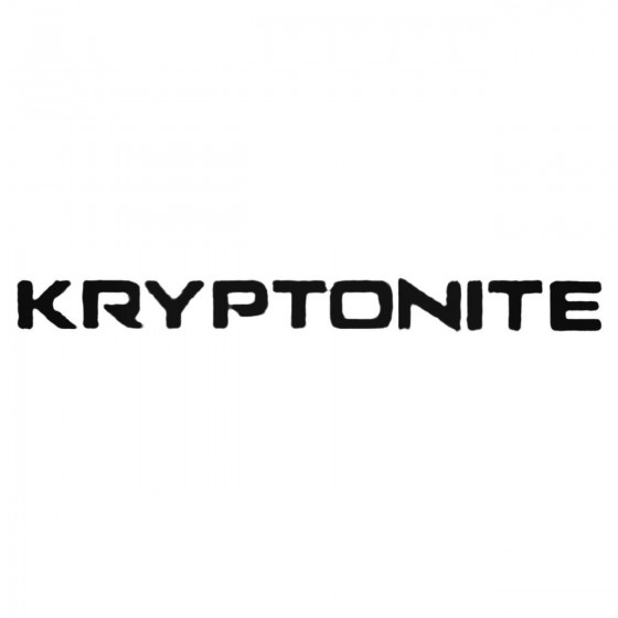 Kryptonite Decal Sticker
