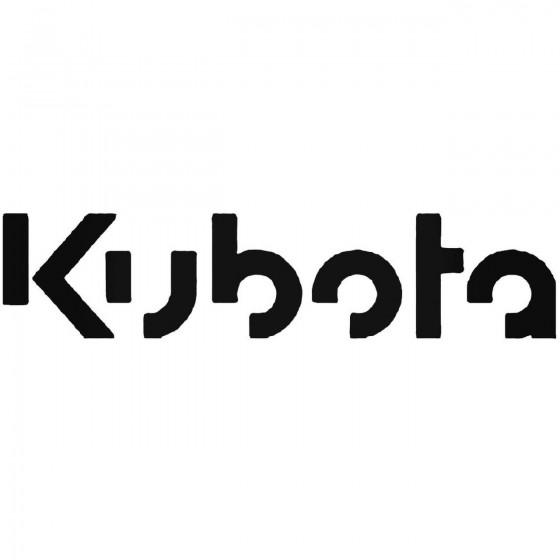 Kubota Vinyl Decal