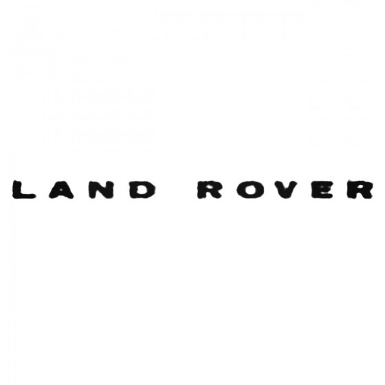 Land Rostyle Decal Sticker