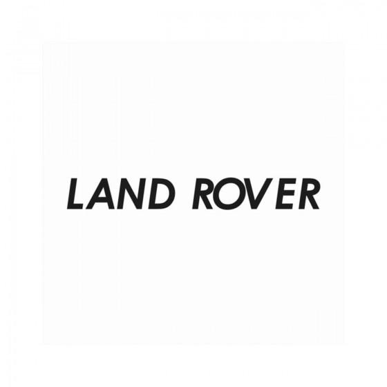 Land Rover Texte Vinyl...