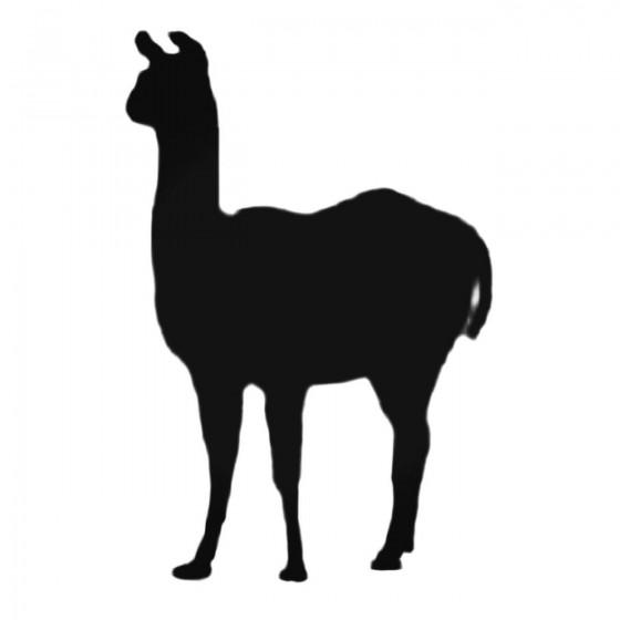 Llama Facing Left Decal...