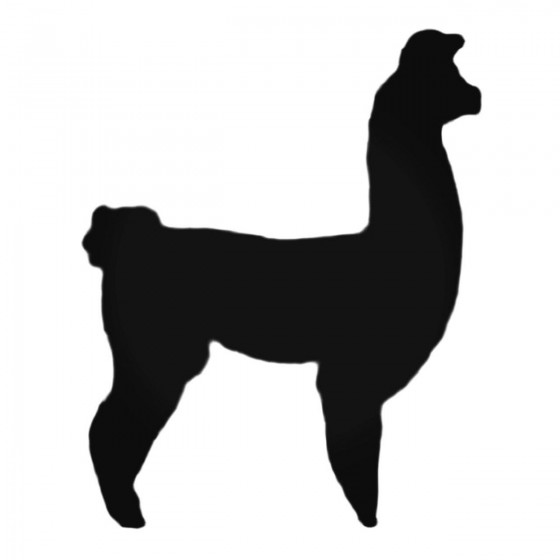 Llama Standing Decal Sticker
