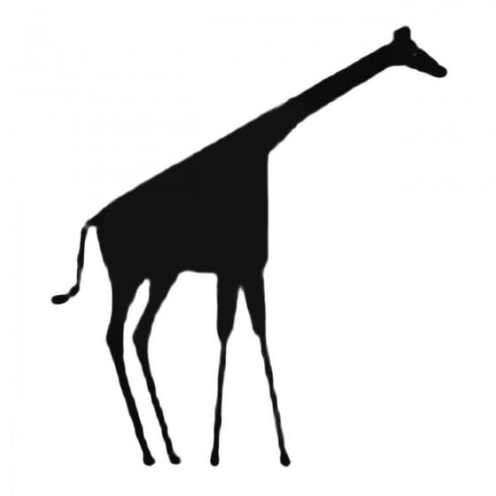 Long Giraffe Decal Sticker