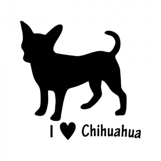 Love Chihuahua Dog 3 Vinyl...