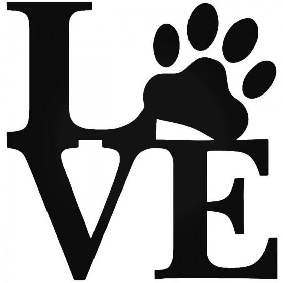 Love Dog Pet Paw Print...