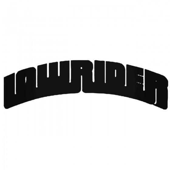 Lowrider Decal Sticker