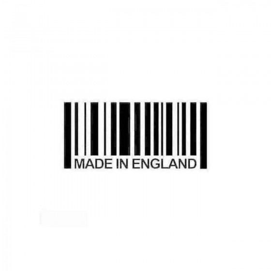 Made In England Barcode...
