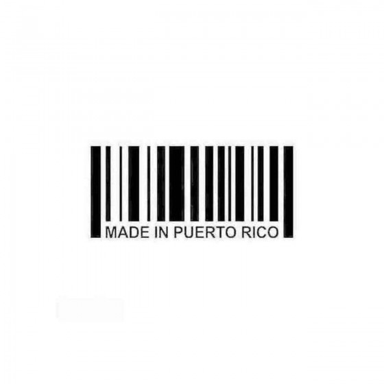 Made In Puerto Rico Barcode...