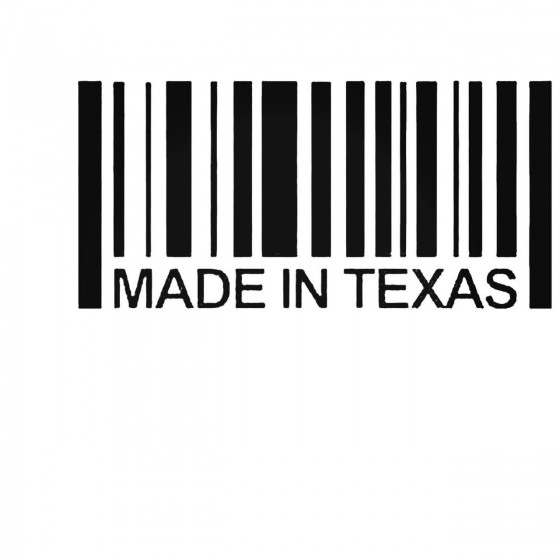 Made In Texas Barcode Decal...