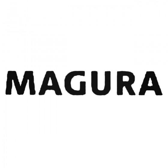 Magura Text Decal Sticker