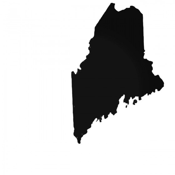 Maine Me State Decal Sticker