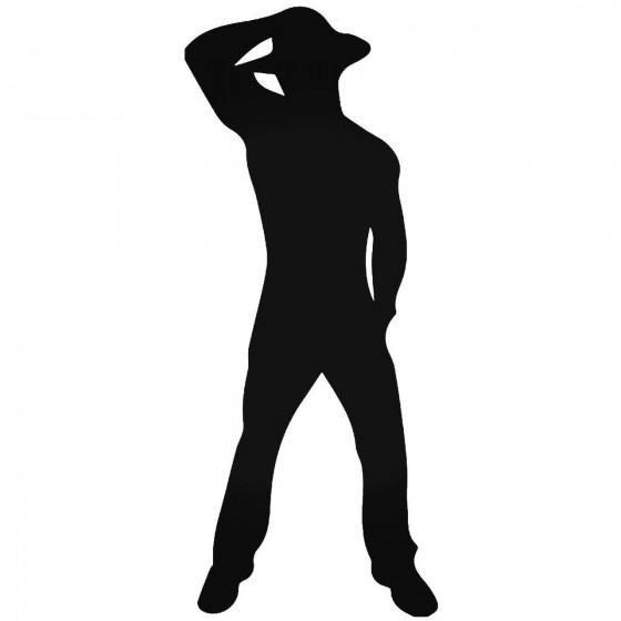 Male Stripper Cowboy Decal