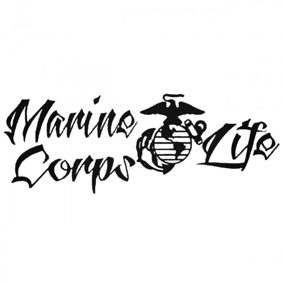 Marine Corps Life Decal...