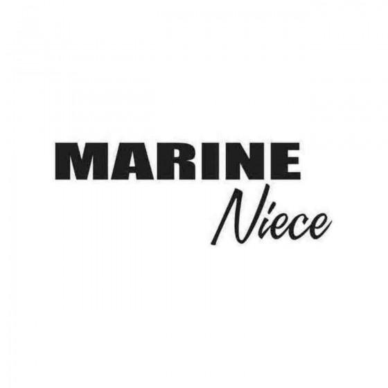 Marine Niece Decal Sticker