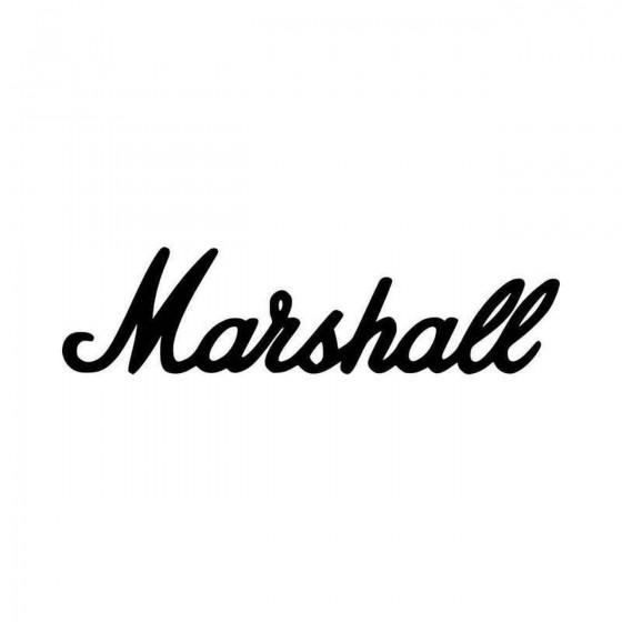 Marshall Amps Logo Vinyl...
