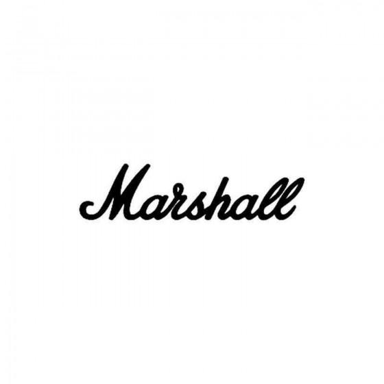 Marshall Vinyl Decal Sticker