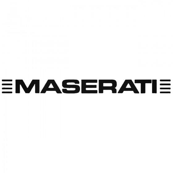 Maserati Decal Sticker